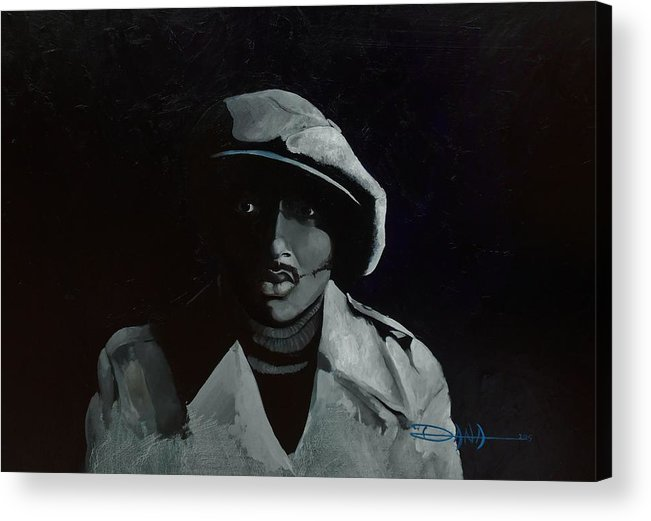 Portrait Acrylic Print featuring the painting Donnie Hathaway by Dana Newman