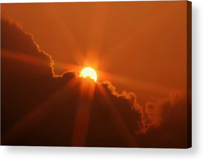Sunset Acrylic Print featuring the photograph Each Day by Mitch Cat