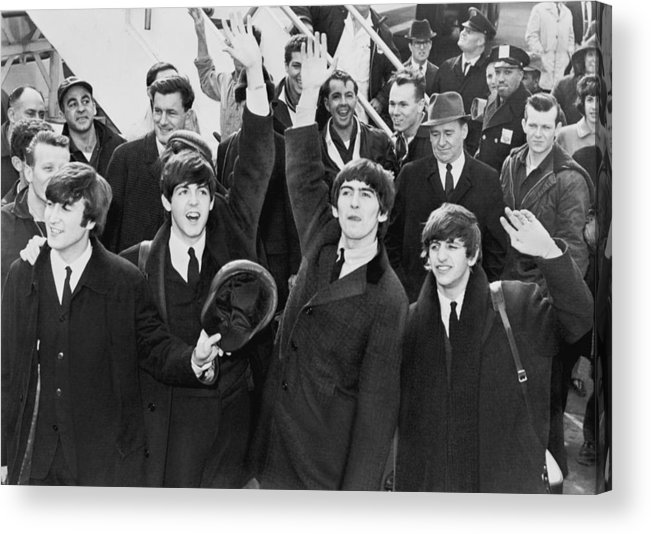 Poster Acrylic Print featuring the photograph Early Beatles Publicity Photo by Georgia Fowler