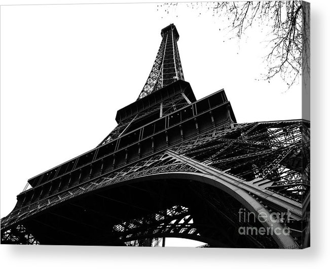 Eiffel Tower Acrylic Print featuring the photograph Eiffel from an Angle by Joshua Francia