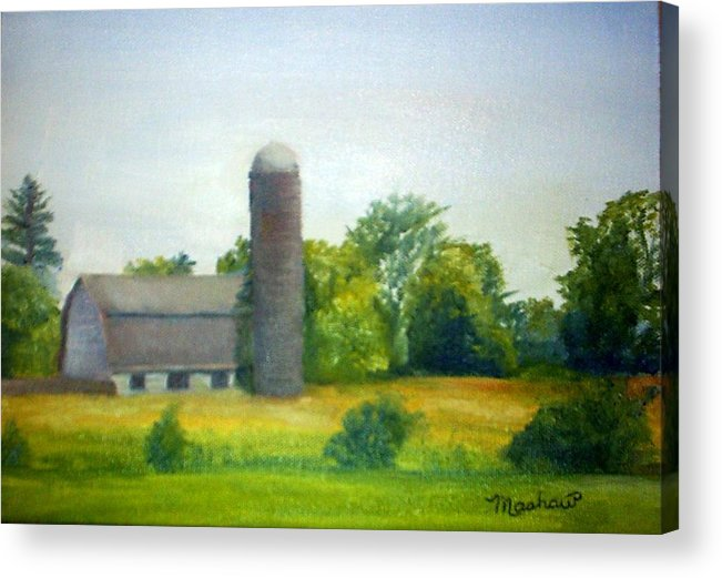 Farm Acrylic Print featuring the painting Farm in the Pine Barrens by Sheila Mashaw