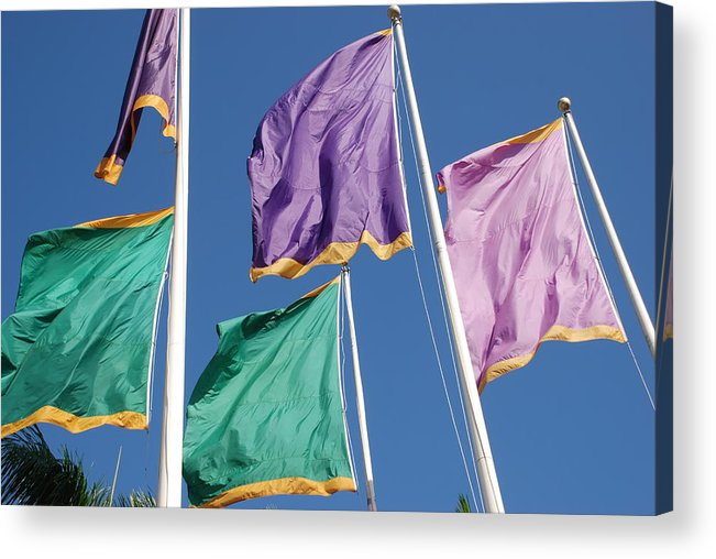 Flags Acrylic Print featuring the photograph Flags by Rob Hans