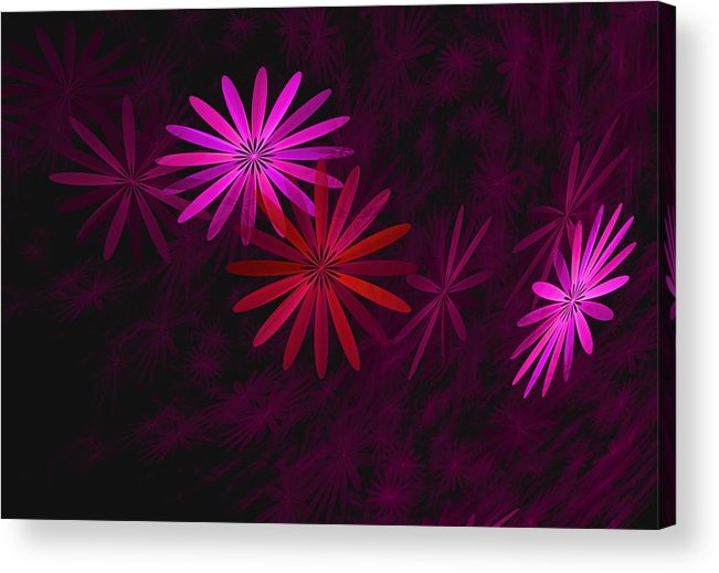 Fantasy Acrylic Print featuring the digital art Floating Floral - 006 by David Lane