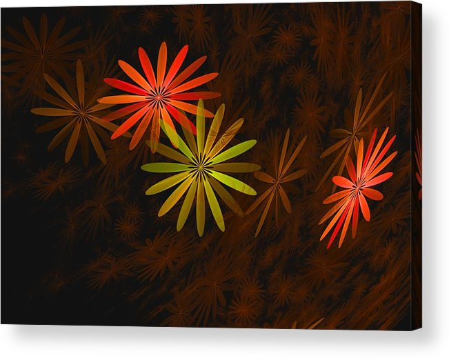 Digital Photography Acrylic Print featuring the digital art Floating Floral-008 by David Lane