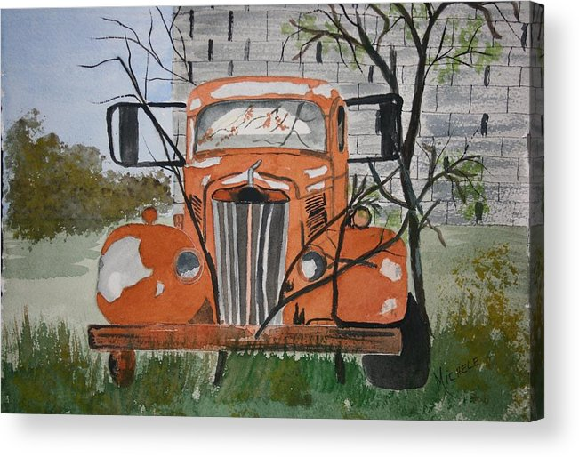 Truck Acrylic Print featuring the painting Forgotten by Michele Turney