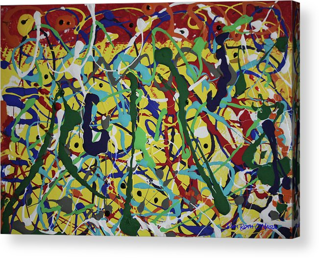 Abstract Acrylic Print featuring the painting Fun Time by Pam Roth O'Mara