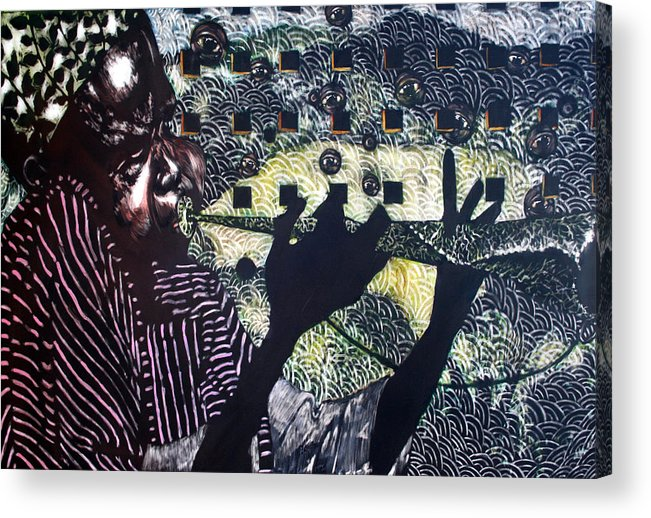 New Age Acrylic Print featuring the mixed media Herald of A New Age by Chester Elmore