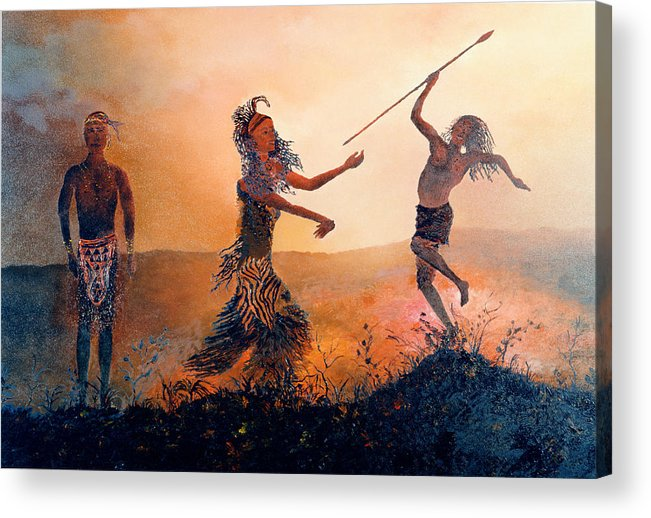 Africa Acrylic Print featuring the painting Home Comeing by Richard Barham