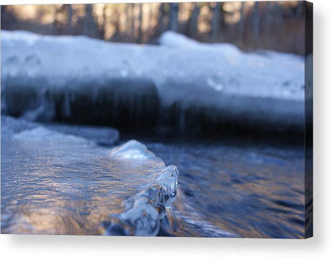 Ice Acrylic Print featuring the photograph Icy Creek by Brian Anderson