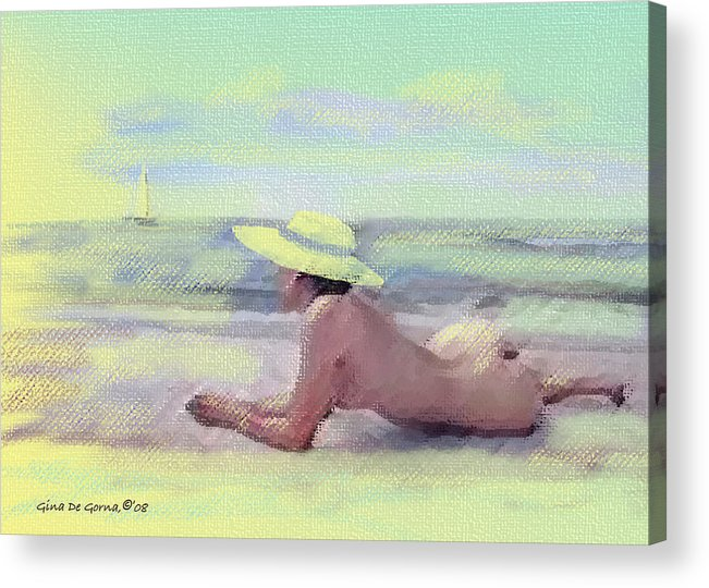 Original Art Acrylic Print featuring the pastel Imagine by Gina De Gorna