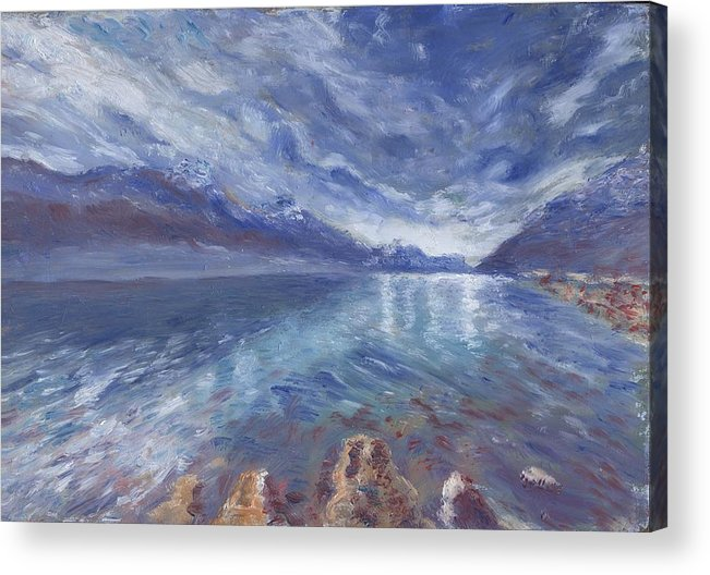 Oil Acrylic Print featuring the painting In Nature's realm by Horacio Prada