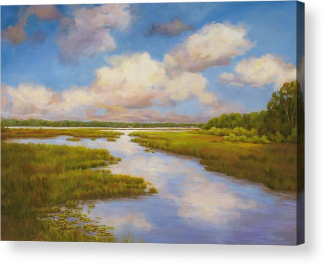 Landscape Acrylic Print featuring the painting Island View by Barrett Edwards