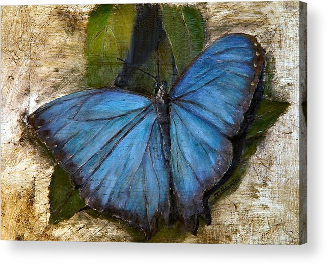 Butterfly Acrylic Print featuring the painting Jewel of the Garden by Merle Blair