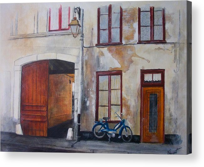 France Acrylic Print featuring the painting La Vieille Maison by Victoria Heryet