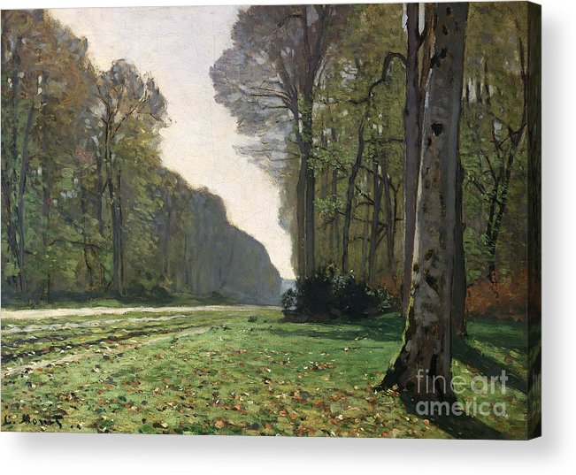 The Acrylic Print featuring the painting Le Pave de Chailly by Claude Monet