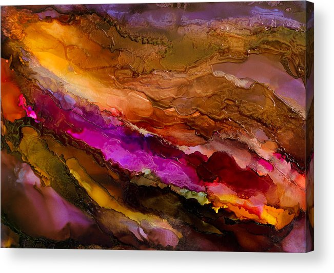 Abstract Acrylic Print featuring the painting Live Your Passion - A - by Sandy Sandy