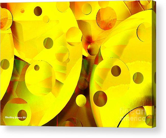 Suns Acrylic Print featuring the digital art Many Suns by Shelley Jones