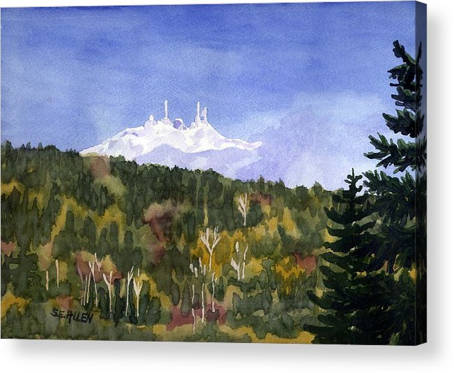 Landscape Acrylic Print featuring the painting Almost Mystical by Sharon E Allen