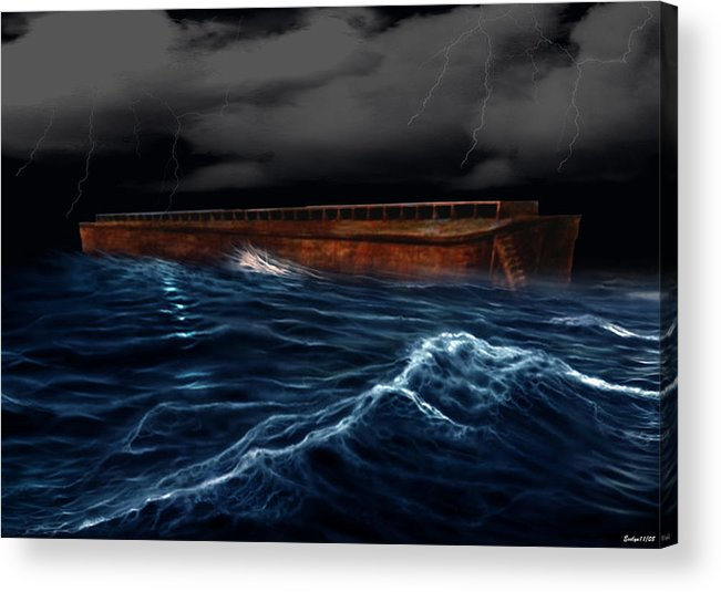 Ship Acrylic Print featuring the digital art Noah Ark by Evelyn Patrick