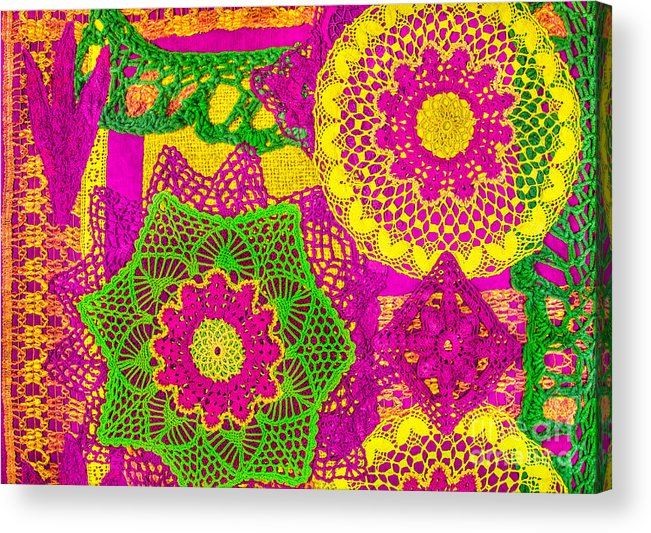 Patchwork Acrylic Print featuring the photograph Oh Dont Forget This Joy - Pink Edition by Mimmi Tverin