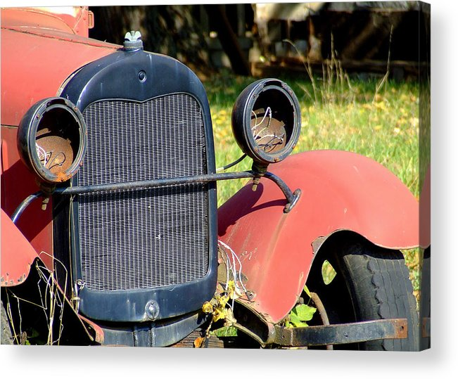 Model A Acrylic Print featuring the photograph Old Truck by Everett Bowers
