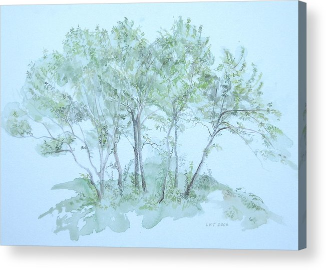 Trees Acrylic Print featuring the painting Outer Banks by Leah Tomaino