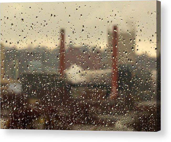 Rain Acrylic Print featuring the photograph Raindrops by Lisa Kane