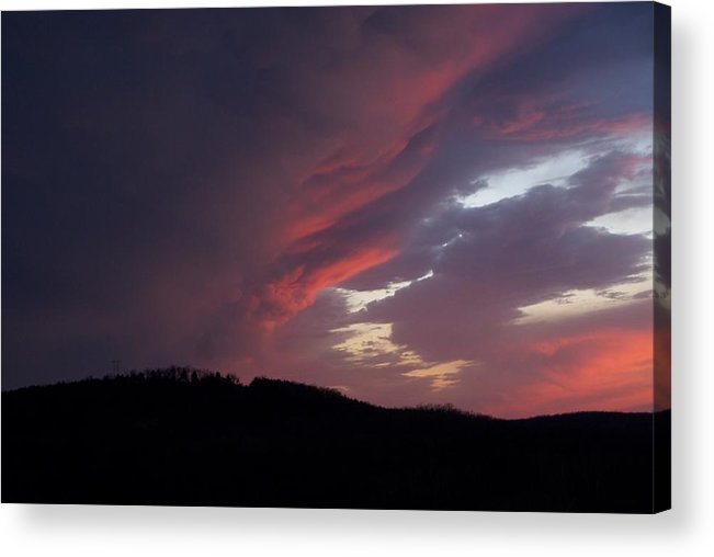 Red Clouds Acrylic Print featuring the photograph Red Clouds 2 by Toni Berry
