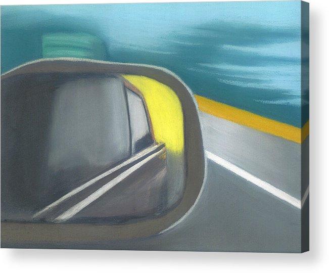 Landscape Acrylic Print featuring the drawing Roadtrip by Tara Kearce