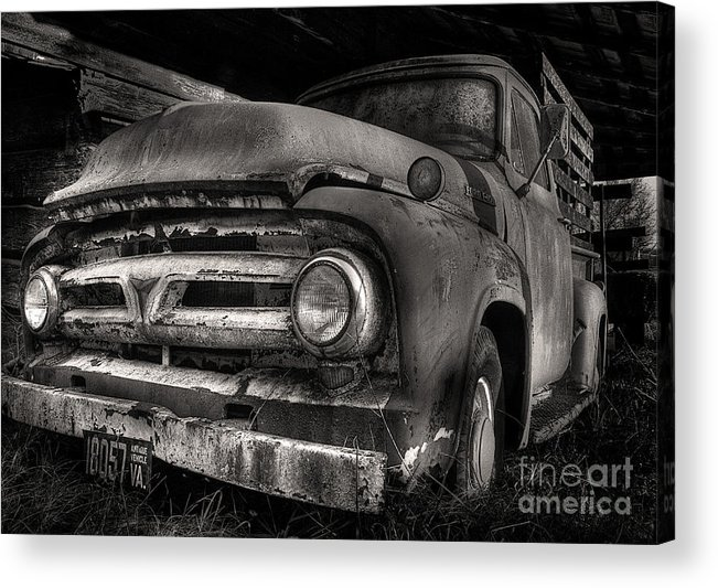 Scotopic Acrylic Print featuring the photograph Scotopic Vision 6 - 53 Ford by Pete Hellmann