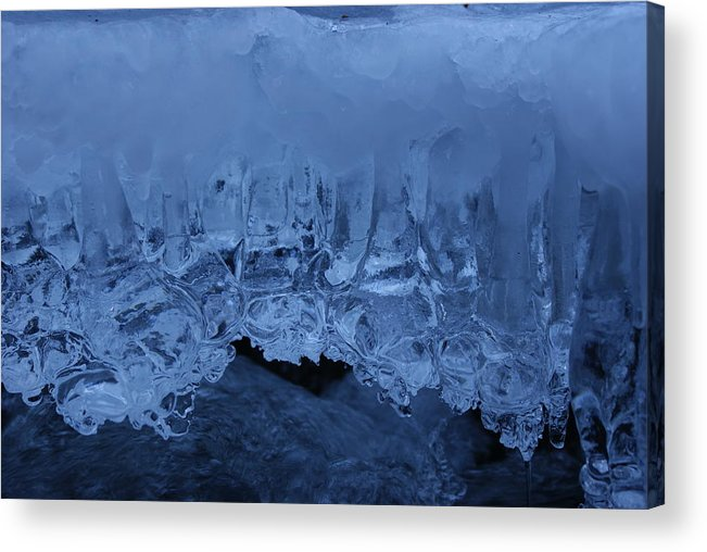 Ice Acrylic Print featuring the photograph Shades Of Blue by Brian Anderson