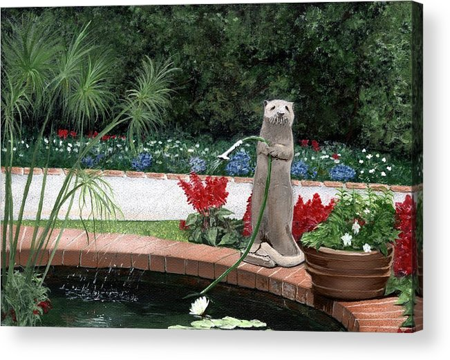 Sherman Gardens Acrylic Print featuring the painting Shermie by Charles Parks