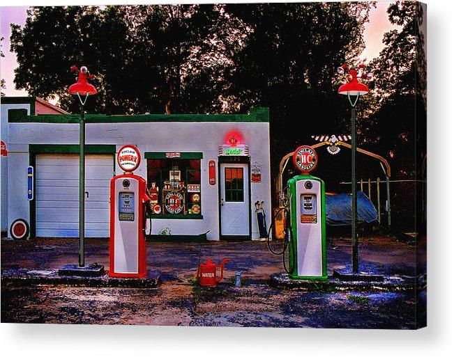 Gas Station Acrylic Print featuring the photograph Sinclair by Steve Karol