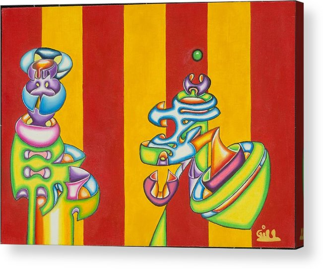 Fantasy Acrylic Print featuring the painting Spinning Top by      Gillustrator