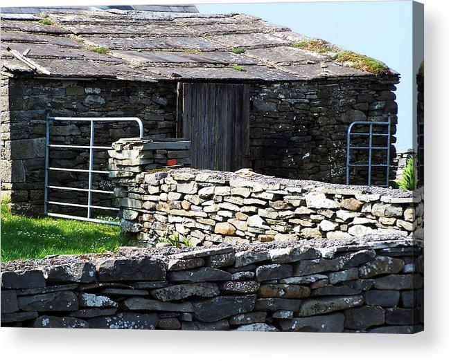 Irish Acrylic Print featuring the photograph Stone Barn Doolin Ireland by Teresa Mucha