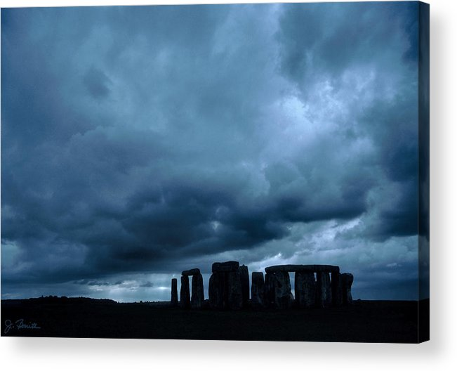 England Acrylic Print featuring the photograph Stonehenge by Joe Bonita