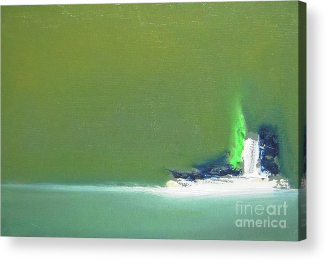 Abstract Acrylic Print featuring the painting Submarine by Vesna Antic