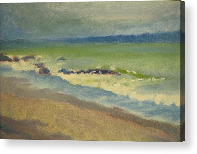 Ocean Acrylic Print featuring the painting Surf by Robert Bissett