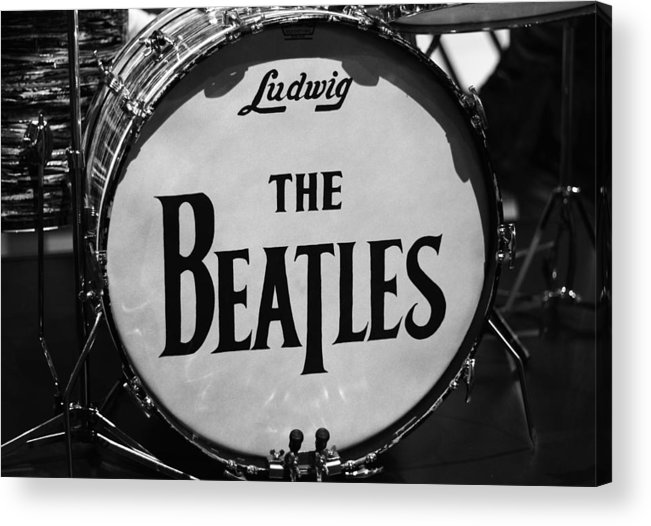 The Beatles Drum Acrylic Print featuring the photograph The Beatles Drum by Dan Sproul