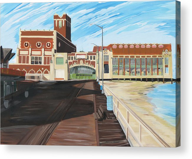 Asbury Art Acrylic Print featuring the painting The Convention Hall Asbury Park by Patricia Arroyo