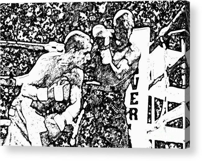 Prize Fighting.boxing Acrylic Print featuring the photograph The Follow Through by David Lee Thompson