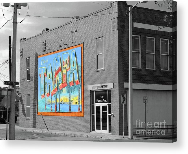 Tampa Acrylic Print featuring the photograph The Lost Tampa Postcard by Jost Houk