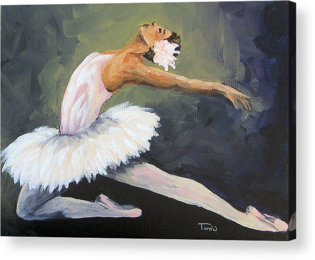 Ballet Acrylic Print featuring the painting The Swan by Torrie Smiley
