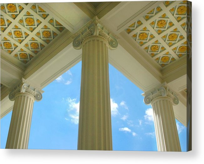 Archetecture Acrylic Print featuring the photograph Three Columns by Dan Holm