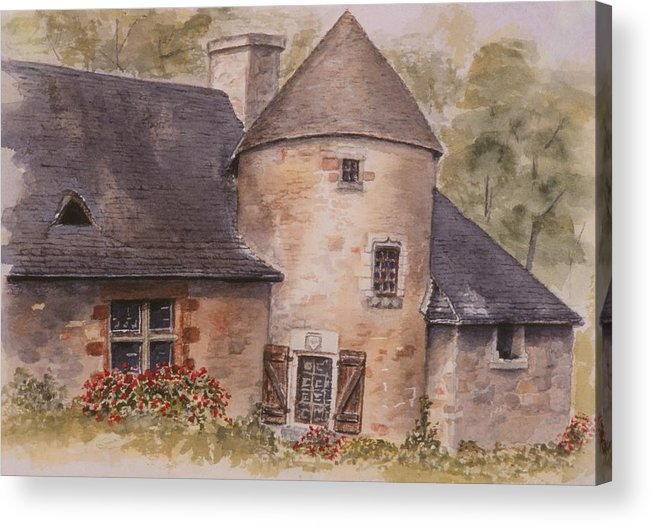 Watercolor Acrylic Print featuring the painting Turenne by Mary Ellen Mueller Legault