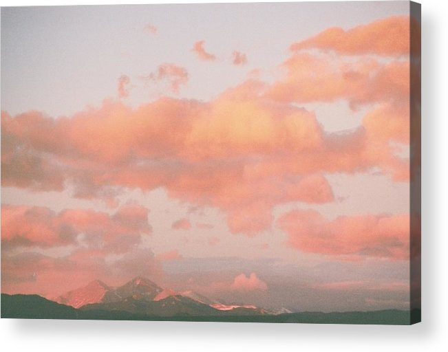 Mountain Acrylic Print featuring the photograph Twin Sisters Morning by Billie Colson