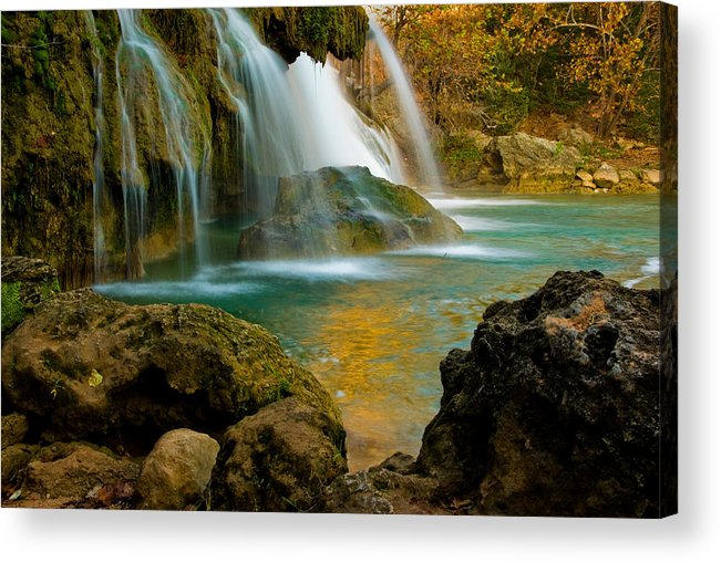 Landscape Acrylic Print featuring the photograph Unite Perspective of Turner Falls by Iris Greenwell