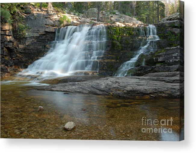 Waterfall Acrylic Print featuring the photograph Upper Provo River Falls by Dennis Hammer