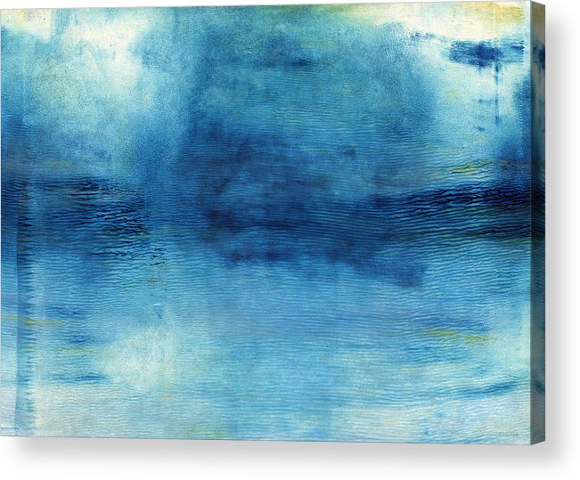 Blue Acrylic Print featuring the painting Wash Away- Abstract Art by Linda Woods by Linda Woods