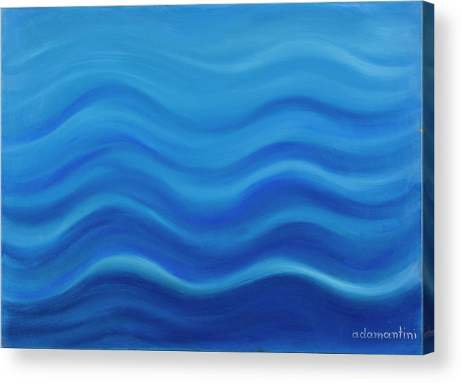 Water Acrylic Print featuring the painting Water by Adamantini Feng shui